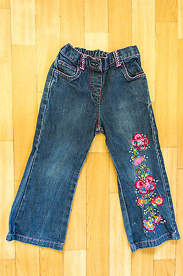 Girls Jeans with colourful embroidery 18-24 Months