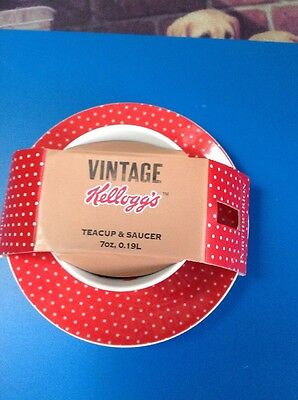 Vintage Kellogg's Tea Cup And Saucer
