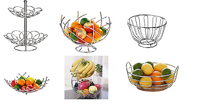 Chrome Fruit Storage /Banana Hanger, Bowl, Basket ,Stand Hook ,Wooden Stand