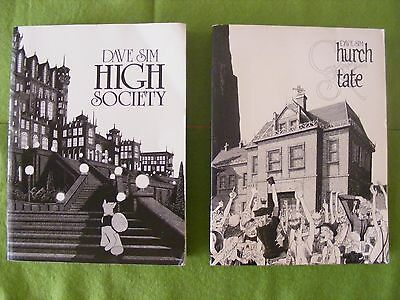 Dave Sim CEREBUS - Book 2 HIGH SOCIETY And Book 3 CHURCH AND STATE