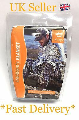 Knight Survival Rescue Foil Waterproof Emergency Blanket Thermal Camping UK