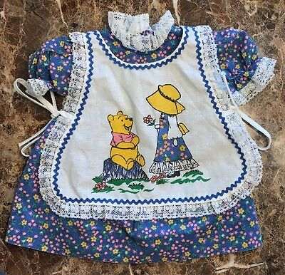 Vtg Sears Winnie The Pooh Novelty apron Dress Collectible 1970s Disney Size 1T