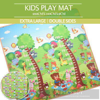 Extra Thick Large 20mm Kids Baby Crawl Play Picnic Mat Floor Rug 1.8mx2m D
