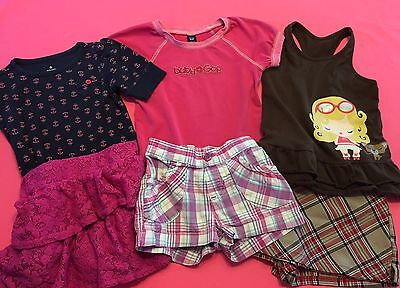 Lot of 6 Items Little Girl Spring Summer Clothes Size 3T-4T Skirts Tops