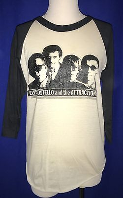 vintage 1981 Elvis Costello Almost Blue TOUR CONCERT TSHIRT JERSEY shirt NICE!
