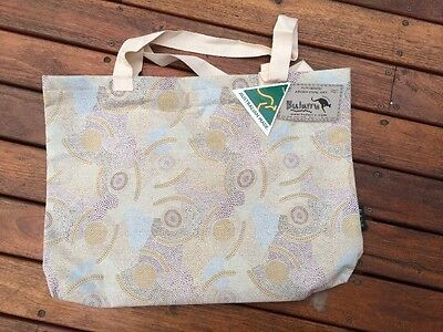Hand Bag With Aboriginal Art Designed By Local Artist