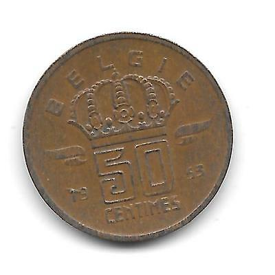 Belgium 1953 50-centimes in VF Condition