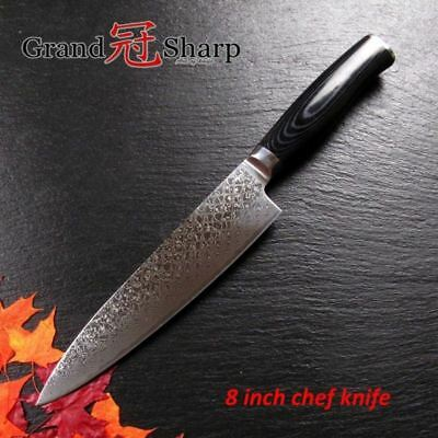 NEW Genuine 8 Inch Japanese Damascus Steel Blade Knife VG10 Chef Kitchen Knives