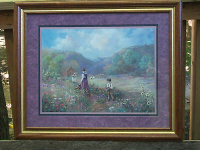 Homco Home Interiors Gifts Framed Picture Floral With