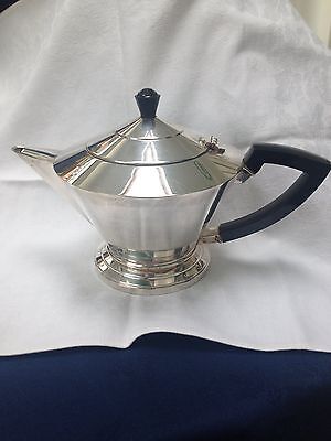 ENGLISH ART DECO SILVER PLATE TEA POT c.1930