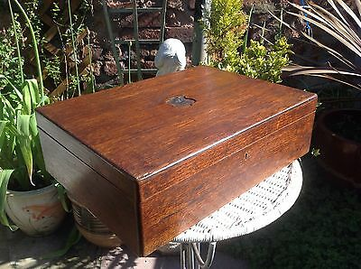 Large Antique Wooden Cutlery Display Box, For Restoration.