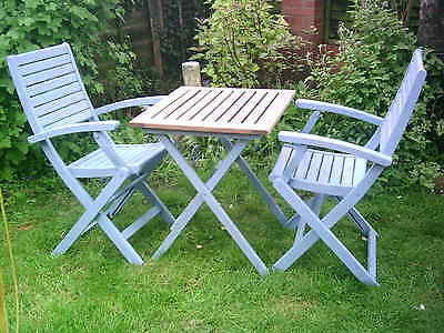 Wooden Folding Garden Table 2 Chairs PicClick UK
