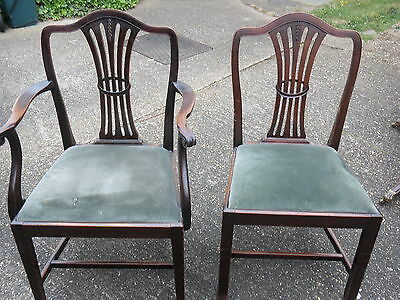 Pair of Mahogany Dining Chairs Possibly Georgian 1714-1830