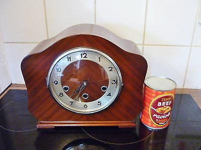 Vintage Smiths Westminster Chiming Mantle Clock Vgc Serviced Working