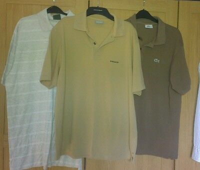 Mens large bundle of lacoste boss barbour polo tops size large