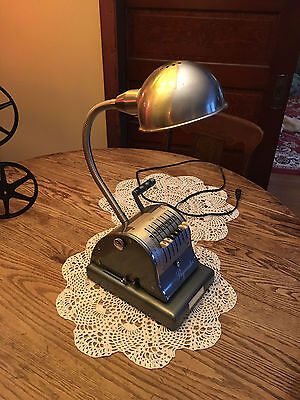 Repurposed Art Deco Industrial Steampunk Table Desk Lamp