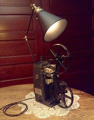Repurposed Desk / Table Lamp - Art Deco Industrial Steampunk