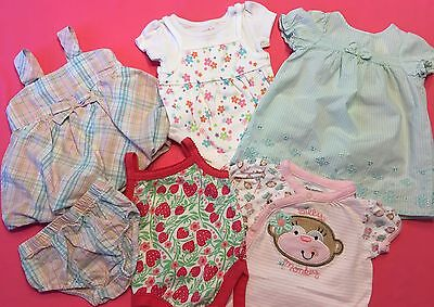 Lot of 6 Items Baby Girl Spring Summer Clothes Size 0-3 Months