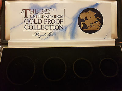 1982 Gold Proof 4 Coin Set  Box&coa Only