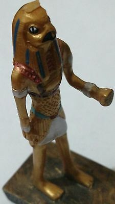 Egyptian statue, Horus symbol of protection Carved Stone  Read Description