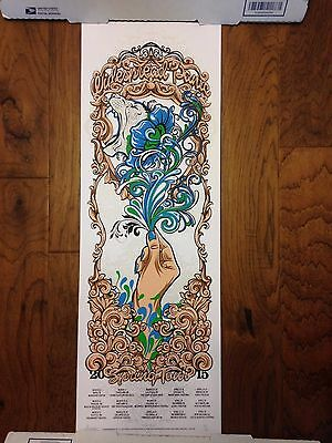 Widespread Panic Art Print Poster J.T. Lucchesi Signed 59/90 2015 Spring Tour