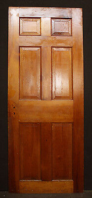 "2 avail 30""x76"" Antique Vintage Colonial Solid Wood Wooden Interior Door 6 Panel"