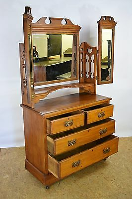 1900 Victorian Dressing Table, Antique Dressing Table, Old Bedroom Furniture