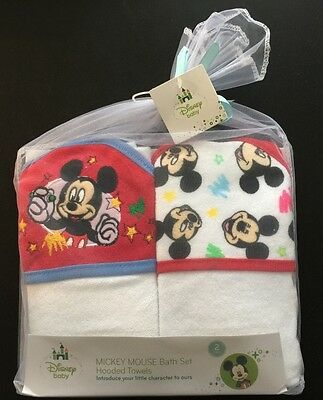 Disney Baby Hooded Towel Set of 2 Towels for Boys and Girls - Machine Wash