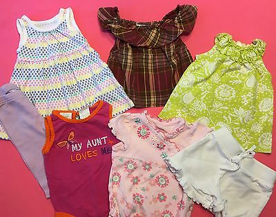 Lot of 7 Items Baby Girl Spring Summer Clothes Size 0-3 Months