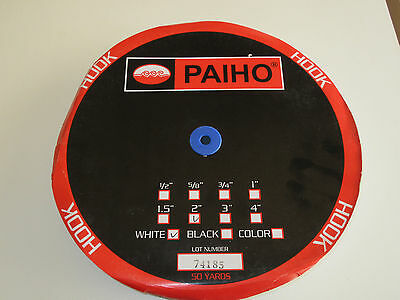 """Paiho HOOK Only Sew On Fastners 2"""" x 50 yards WHITE"""