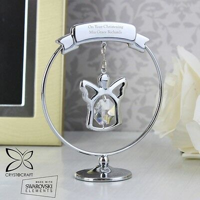 PERSONALISED Engraved Angel Crystal Ornament Christening  Memorial Gift Idea