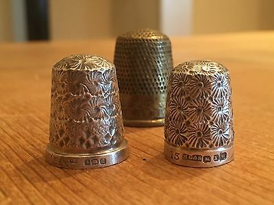 Antique Sewing Thimble Collection - Solid Silver & Brass - Henry Griffith & Sons