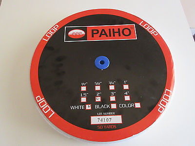 """Paiho LOOP Only Sew On Fastners 2"""" x 50 yards WHITE"""