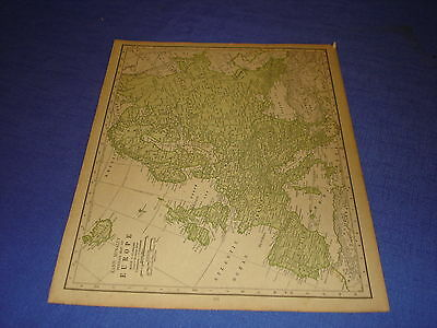 1928 map Europe from Rand McNally World Atlas Commonwealth Edition