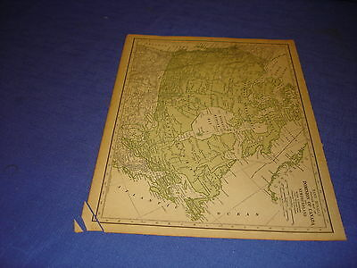 1928 map Canada  from Rand McNally World Atlas Commonwealth Edition