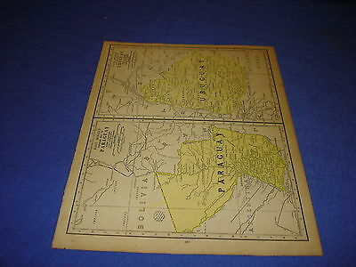 1928 map Paraguay & Uraguay  from Rand McNally World Atlas Commonwealth Edition