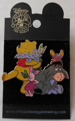 Disney Pin DLR Pooh & Friends with Butterflies New