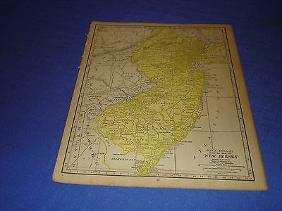 1928 map NEW JERSEY  from Rand McNally World Atlas Commonwealth Edition