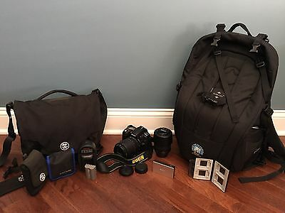 Nikon Dx D90 Camera With Extra Lens, Carrying Case And Accessories