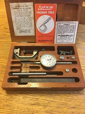 Lufkin Universal Dial Test Indicator # 399A With Wooden Box