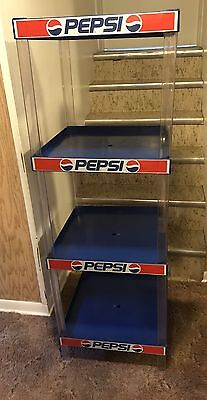 Vintage Pepsi Cola Plastic Display Shelving 4 Shelf Stand