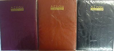Large Executive Style Padded A-Z A to Z Address Book. Slightly Smaller than A4