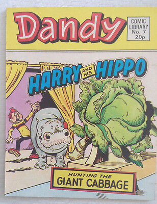 Dandy Comic Library 7 Harry And His Hippo Hunting The Giant Cabbage (1983)