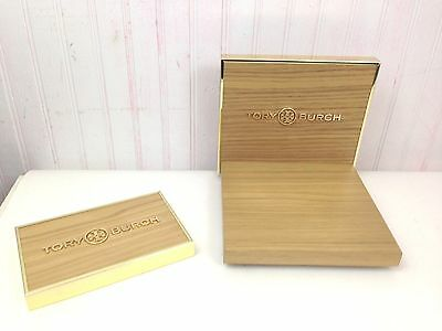 2 Tory Burch Display Boards Wood & Gold  New