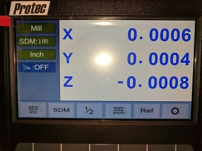 DRO Ditron Display 3-axis Update or replaces most top name brands-programmable