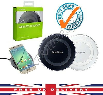 Samsung Galaxy S6 S7 & Edge Qi Wireless Charger Charging Pad Plate Black White