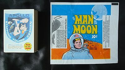 Full Card Set 1969 *MAN on the MOON* Complete #1a-55B + WRAPPER Aldrin ARMSTRONG