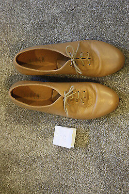 BLOCH TAN LEATHER TECHNO TAP SHOES Size 10 1/2
