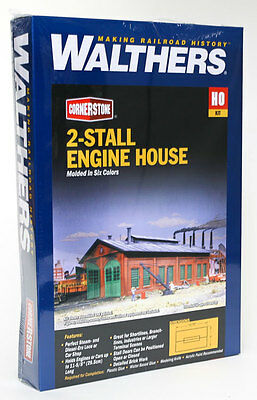 3007 Walthers Cornerstone 2 Stall Enginehouse HO Scale