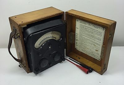 Vintage Universal Avometer Admiralty 47A In Super Wooden Case